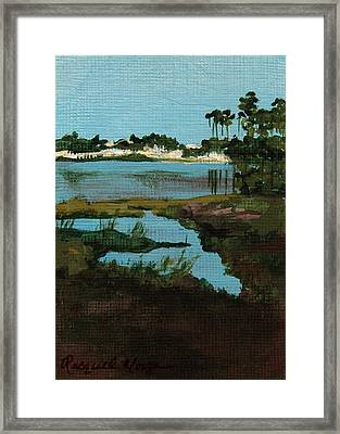Oyster Lake Framed Print by Racquel Morgan