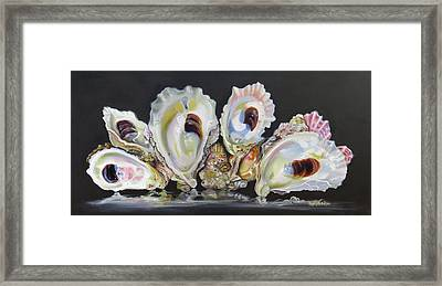 Oyster Reef Framed Print by Phyllis Beiser