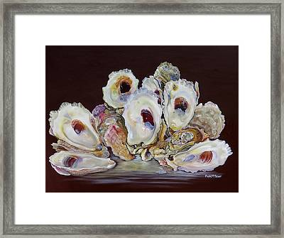 Oyster Shell Study At Low Tide Framed Print