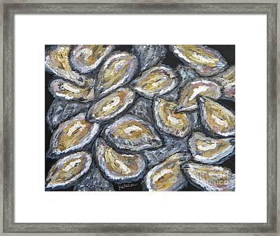 Oyster Stack Framed Print