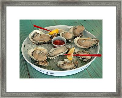 Oysters On The Half Shell Framed Print by Carla Parris