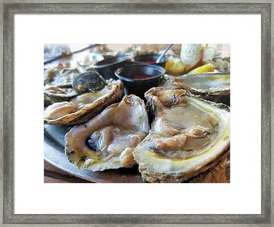 Oysters On The Halfshell  Framed Print