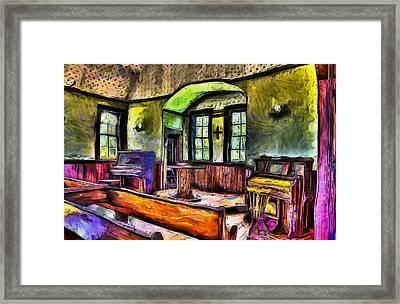 Oysterville Church Interior Framed Print