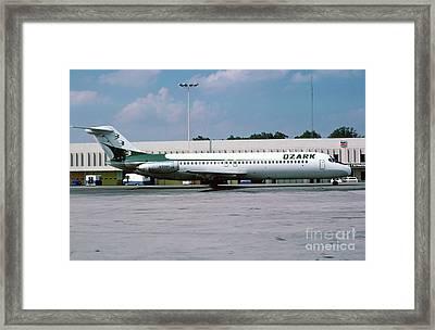 Ozark Airlines Douglas Dc-9-32, N998r Framed Print