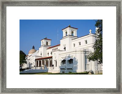 Ozark Bath House Framed Print