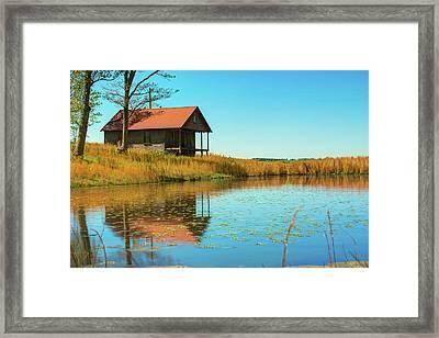 Ozark Mountain House Reflections - Arkansas Framed Print