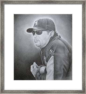 Ozzie Guillen Framed Print by Brian Schuster