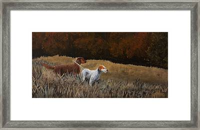 Ozzy And Nigel Framed Print by Pavel Francev