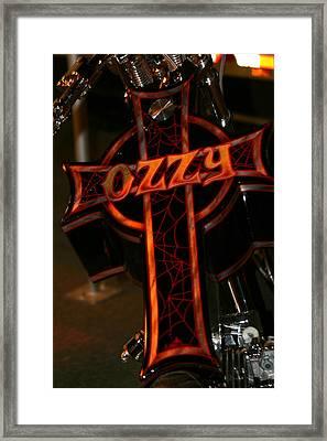 Ozzy Bike Framed Print by Robert  Torkomian