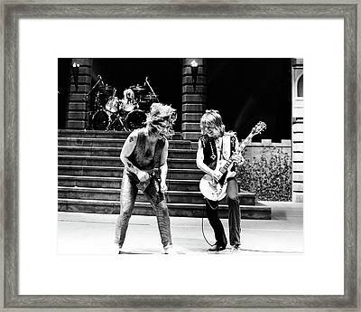 Ozzy Osbourne And Randy Rhoads 1981 Framed Print by Chris Walter