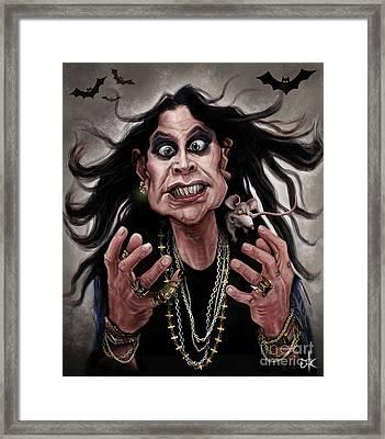 Ozzy Osbourne Framed Print by Andre Koekemoer