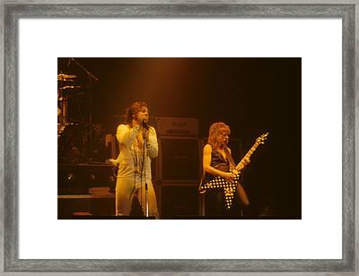 Ozzy Ozbourne And Randy Rhoads Framed Print