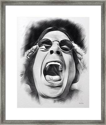 Ozzy Sketch  Framed Print