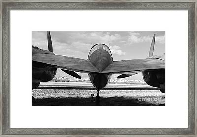 P-38 - Lightning Fighter Aircraft Framed Print by Carlos Amaro