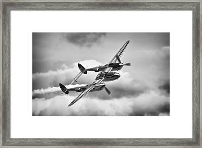 P-38 Lightning Framed Print by Ian Merton