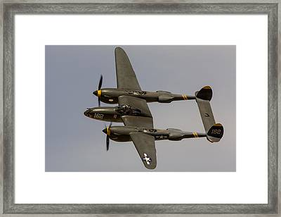 P-38 Skidoo Framed Print by John Daly