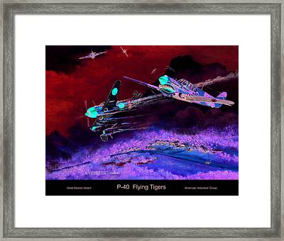 P-40 Flying Tigers Framed Print by Dennis Vebert
