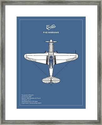 P-40 Warhawk Framed Print by Mark Rogan