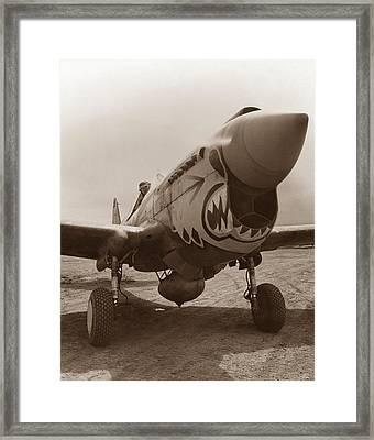 P-40 Warhawk - World War 2 Framed Print by War Is Hell Store