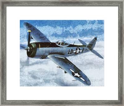 P-47 Thunderbolt Framed Print by Esoterica Art Agency