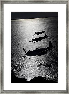 P-51 Cavalier Mustang With Supermarine Framed Print by Daniel Karlsson