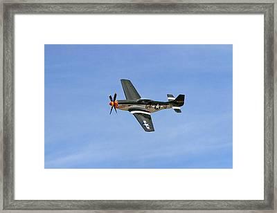 P-51 Flying High Framed Print