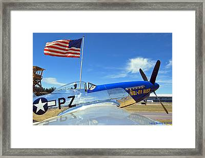 P-51 Hell - Er - Bust Framed Print by Larry Keahey