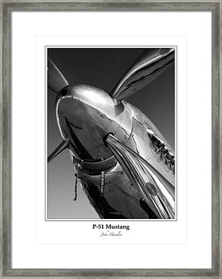 P-51 Mustang - Bordered Framed Print by John Hamlon