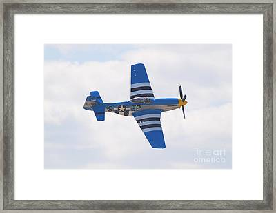 Framed Print featuring the photograph P-51 Mustang American Rose by Larry Keahey