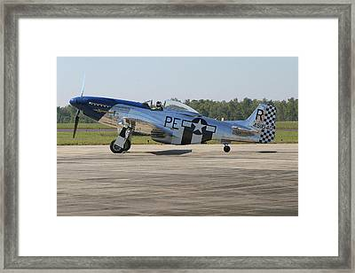 P-51 Mustang Framed Print by Donald Tusa