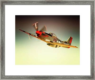 P-51 Mustang Man O War Framed Print