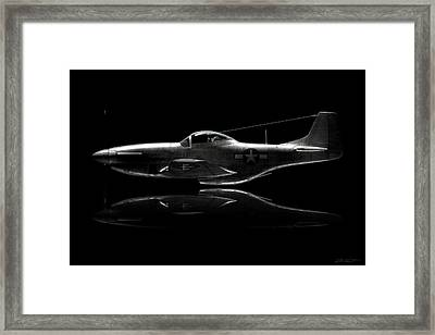 P-51 Mustang Profile Framed Print by David Collins