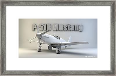 P-51b Mustang Framed Print