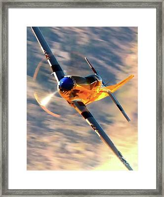 P-51d Grim Reaper And Dan Martin Framed Print