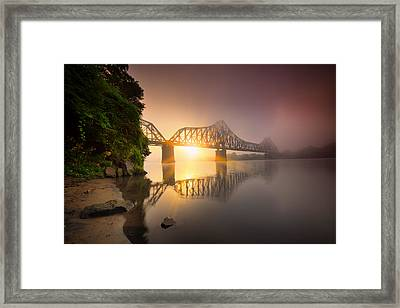 P And Le Ohio River Railroad Bridge Framed Print