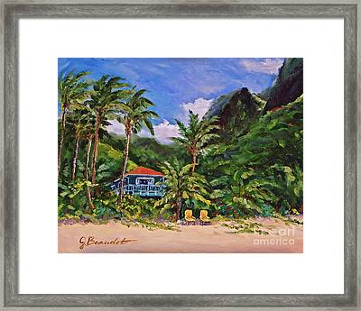 P F Framed Print by Jennifer Beaudet