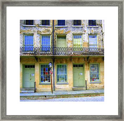Framed Print featuring the photograph P Forbidden In Downtown Harpers Ferry  by Don Struke