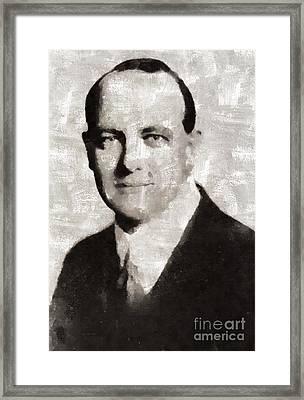 P. G. Wodehouse, Writer Framed Print by Mary Bassett