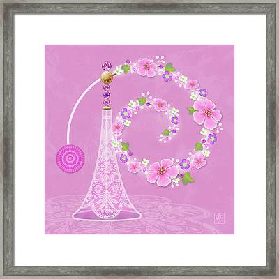 P Is For Perfume Framed Print