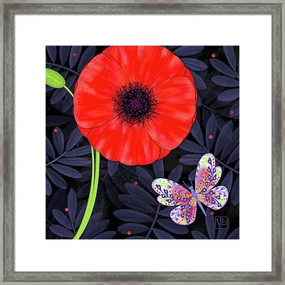 P Is For Pretty Poppy Framed Print