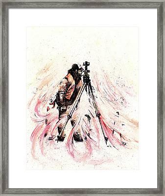 P J Framed Print by Rachel Christine Nowicki