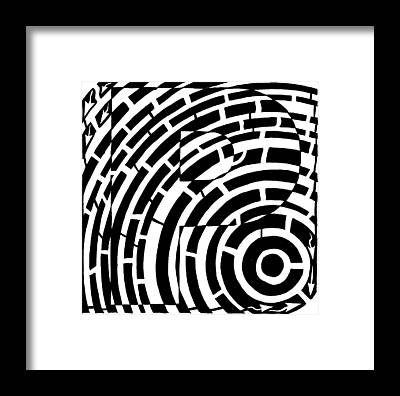 Alphabet Mazes Framed Prints