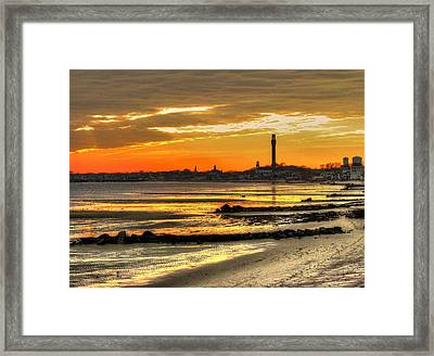 P Town Sunset Framed Print