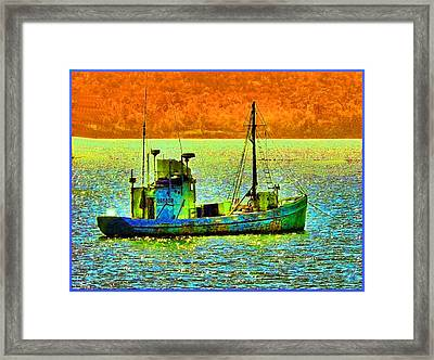 p1030865001d  Fishing  Boat Framed Print by Ed Immar