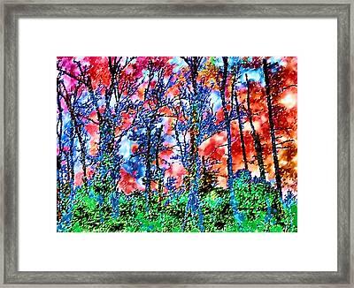 p1050894s Kancamagus on Fire Framed Print by Ed Immar