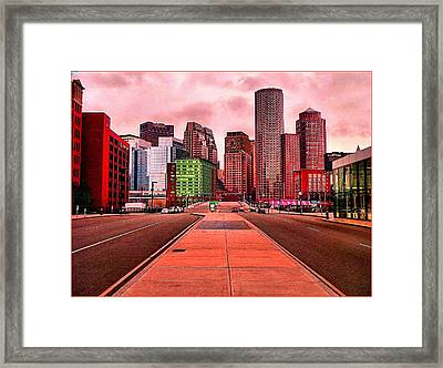 p1070558  Red City Framed Print by Ed Immar