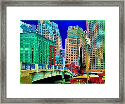 p1070571b  Boston  Bridge Framed Print by Ed Immar