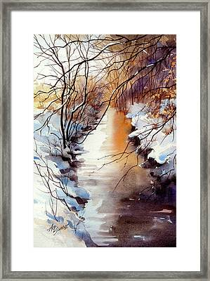 Running Hot And Cold Framed Print by Art Scholz