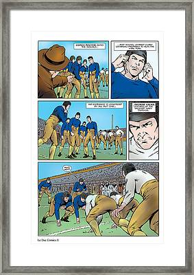 P.2 Gridiron The Beginning Framed Print by Greg Le Duc Ron Randall