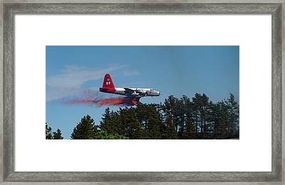 P2v Red Canyon Fire Framed Print